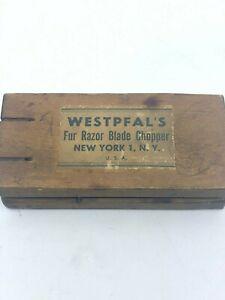 Vintage-Westpfals-fur-razor-blade-chopper-wooden
