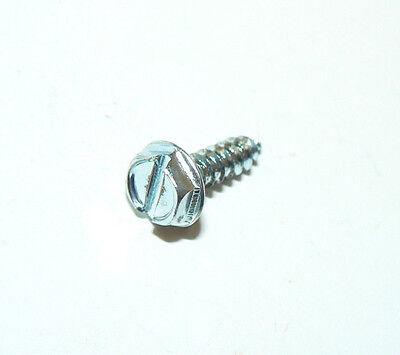 1000 Zinc 6 x 3//8 Slotted Hex Head Sheet Metal Screws