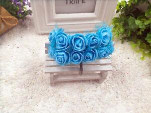 roses-en-mousse-bleu-tulle-144pcs-fleur-artificielle-decoration-mariage-bapteme
