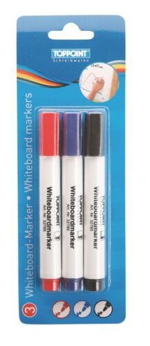 3 Whiteboardmarker Whiteboard Marker blau rot schwarz