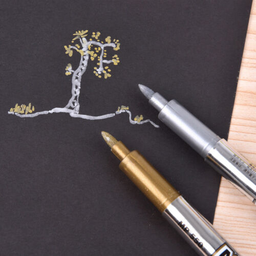 Metallic Marker Pens Multi Colorful Ink Scrapbook Greeting Pen Diy Craft New