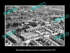 OLD-LARGE-HISTORIC-PHOTO-BIRMINGHAM-ENGLAND-AERIAL-VIEW-OF-HANDSWORTH-c1950-1
