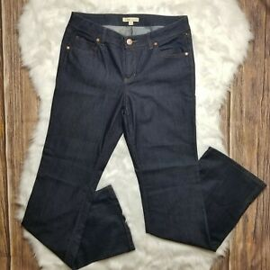 Cabi-Womens-Blue-Jeans-Style-203L-Bootcut-Mid-Rise-Dark-Wash-Size-10
