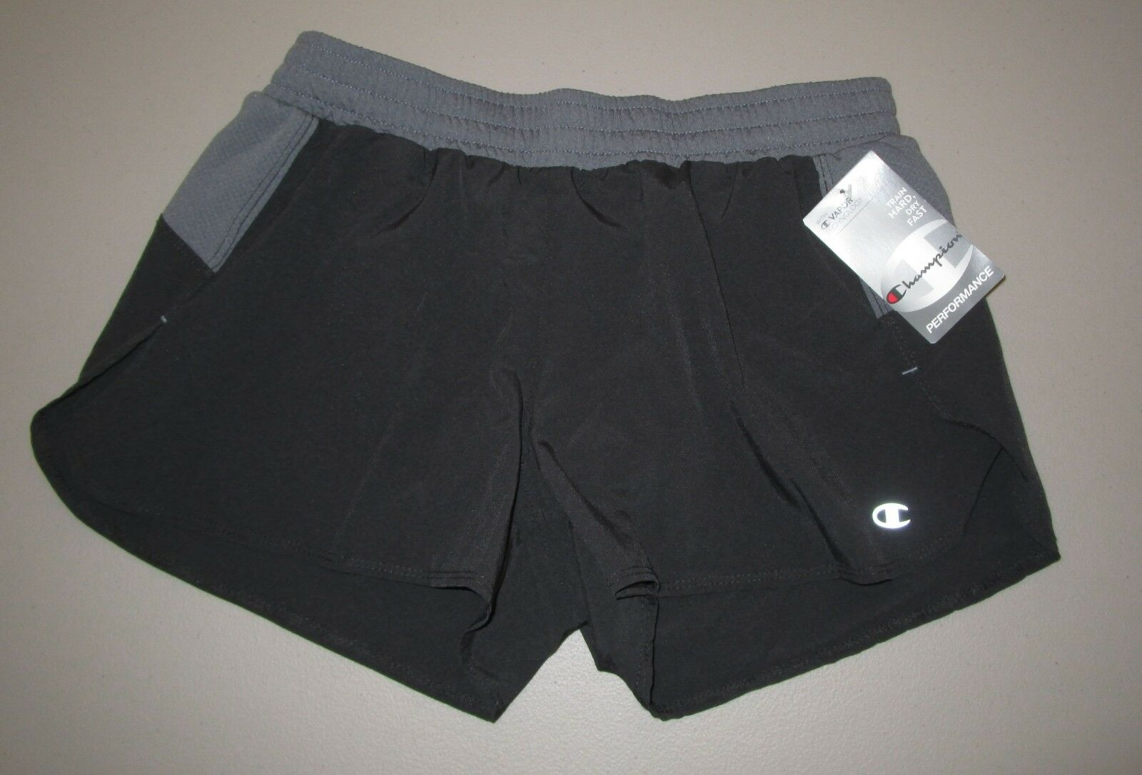 2ef3be6106 2 Champion Women's Sport Shorts 5 M0570 S Black/medium Grey