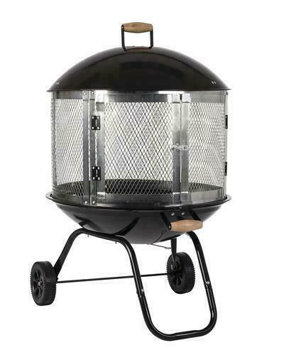 Fire Sense 28 Bon Fire Patio Fireplace Black Silver For Sale Online Ebay