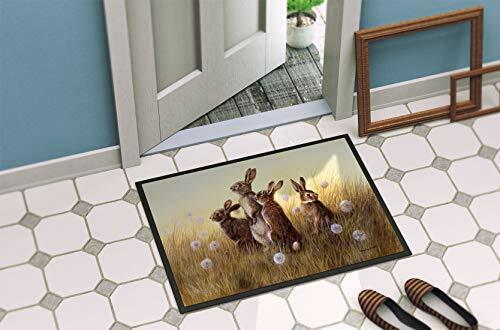 Caroline/'s Treasures Rabbits in the Dandelions Indoor or Outdoor Mat 24x36 BD...