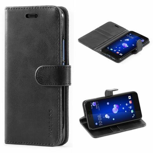 HTC U11 Cuero PU Abatible Estuche con soporte Cubierta de cierre magnético ranuras para tarjetas de identificación