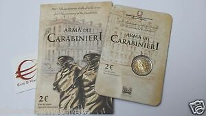 folder-2-euro-fdc-2014-ITALIA-200-anni-Arma-Carabinieri-CC-Italie-Italy-Italien
