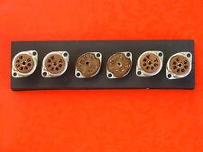 6 ZOCCOLI x VALVOLE MINIATURA TIPO EL90 EZ90 DL96 EF94 SUPPORTI SUVAL MILANO