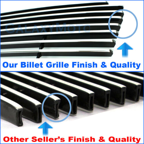 94-98 Ford Mustang Replacement No Logo Polished Chrome Billet Grille Insert