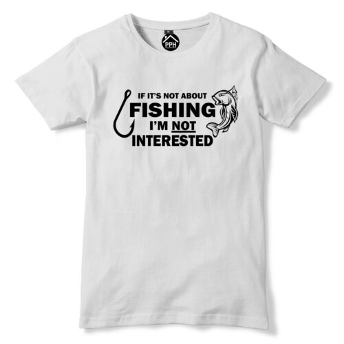 Not Fishing Not Interested Tshirt Funny T Shirt Stag Fish Carp Fathers Day PT5