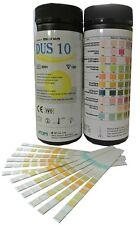 100 x 10 Parameter Urinalysis Urine Strip Tests - UTI Ketone etc Testing Strips