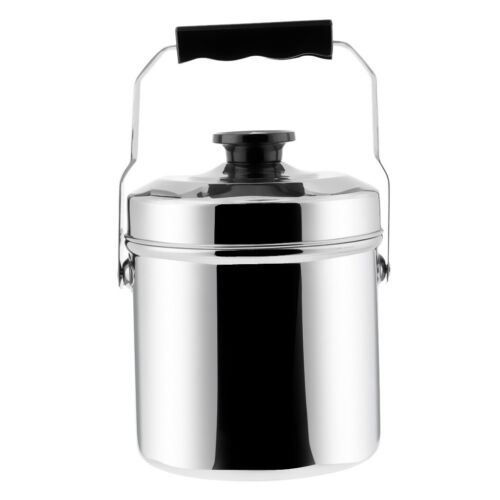 Loop Handle Cooking Pot Cans Mess Tin Pan Stove Lunch Box with 2 Plates