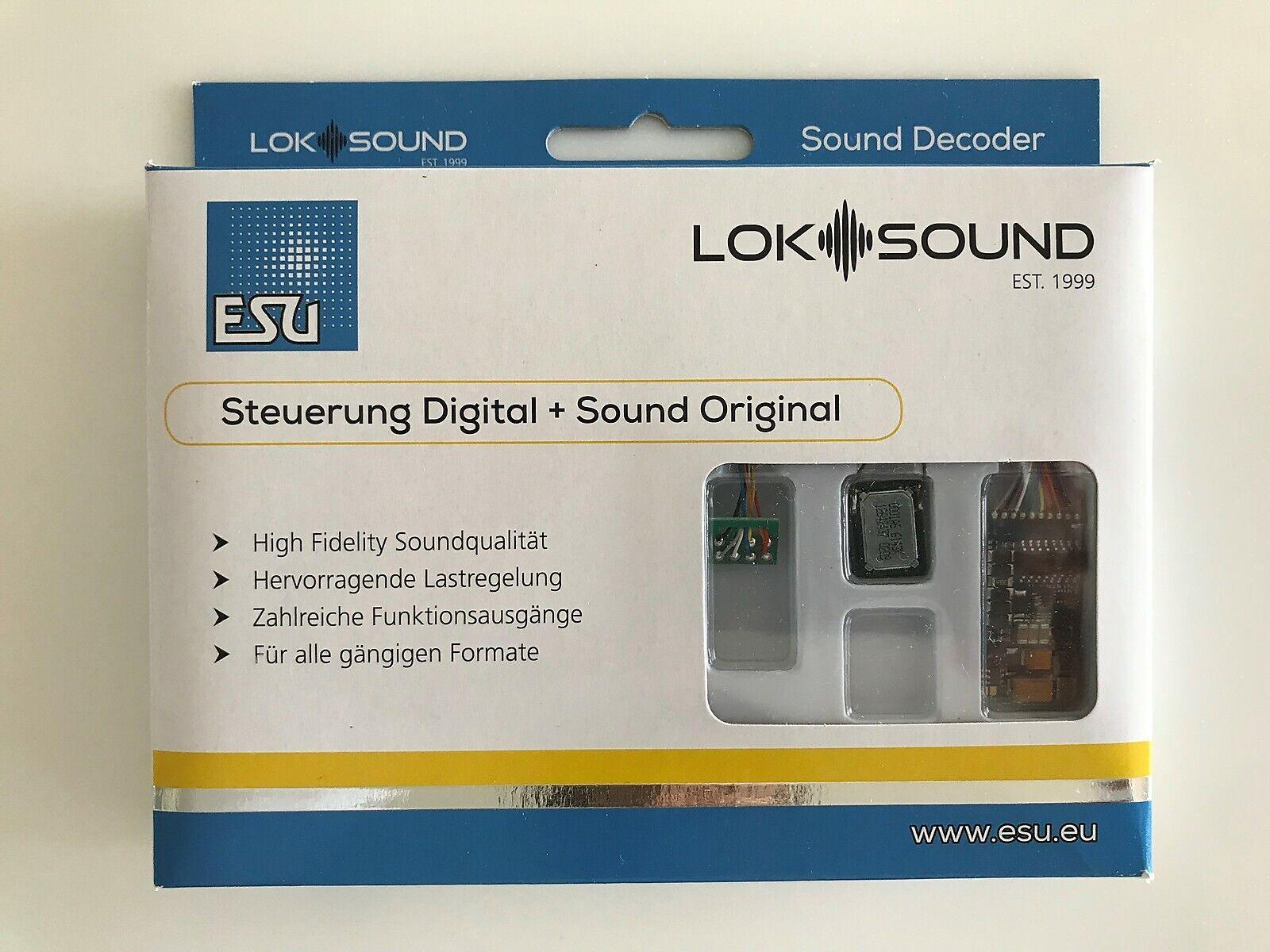 ESU 58410 Loke Sound 5 Multi -Prödocol DCC  MM  SX  M4 (mfx) 8 -pin NEM652 med Speaker