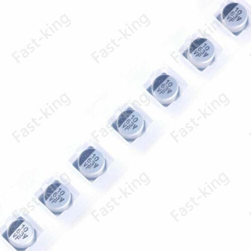 10x SMD Aluminum Electrolytic Capacitor 6.3-63V 1UF 2.2UF 3.3UF 4.7UF-1000UF SMT