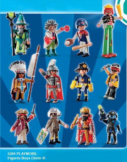 PLAYMOBIL Boys Boys Boys Mystery Minifigures Series 4 Complete Set of 12 Figures - New 4ef374