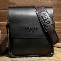 Men LEATHER Bag CROSSBODY Purse POLO videng Mens Messenger Shoulder Bag