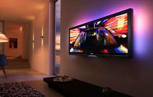 Cinema-21-9-LCD-Fernseher-Ambilight-56-034-Zoll-2K-True-View-56PFL9954H-98-WIE-NEU