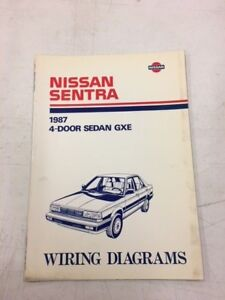 image is loading 1987-nissan-sentra-gxe-sedan-factory-shop-service-