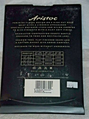 SIZE SMALL ARISTOC /'SENSUOUS/'  15 DENIER SHEER TIGHTS  WITH LACE PANTIE