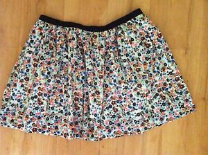 Ladies-Floral-SPORTSGIRL-Skirt-Size-10-Full-Mini-Cotton