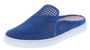 Size 8 Via Spiga Rina2 bluee Leather Slide Sneakers Slip On shoes