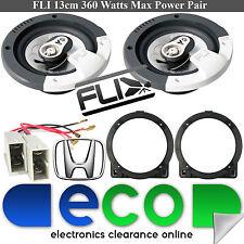 """Honda Civic EP3 FLI 13cm 5.25"""" 360 Watts 3 Way Front Door Speakers & accessories"""
