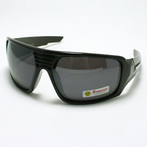 dc7fe4b576b Image is loading MENS-New-Oversized-Fashion-Sunglasses-Wrap-Around-BLACK-