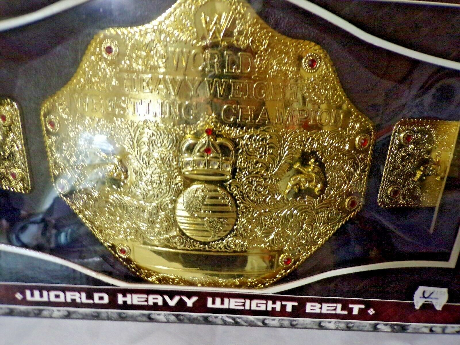 WWE Championship Matches World Heavy Weight Belt Batista Triple H NIP Figures