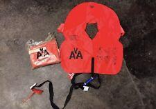 American Airlines Aviation Airplane Life Jacket Vest Self Inflating Float Orange