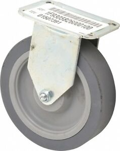 E.R. Wagner 5 Inch Diameter x 1-1/4 Inch Wide, Rigid Caster with Top Plate Mo...