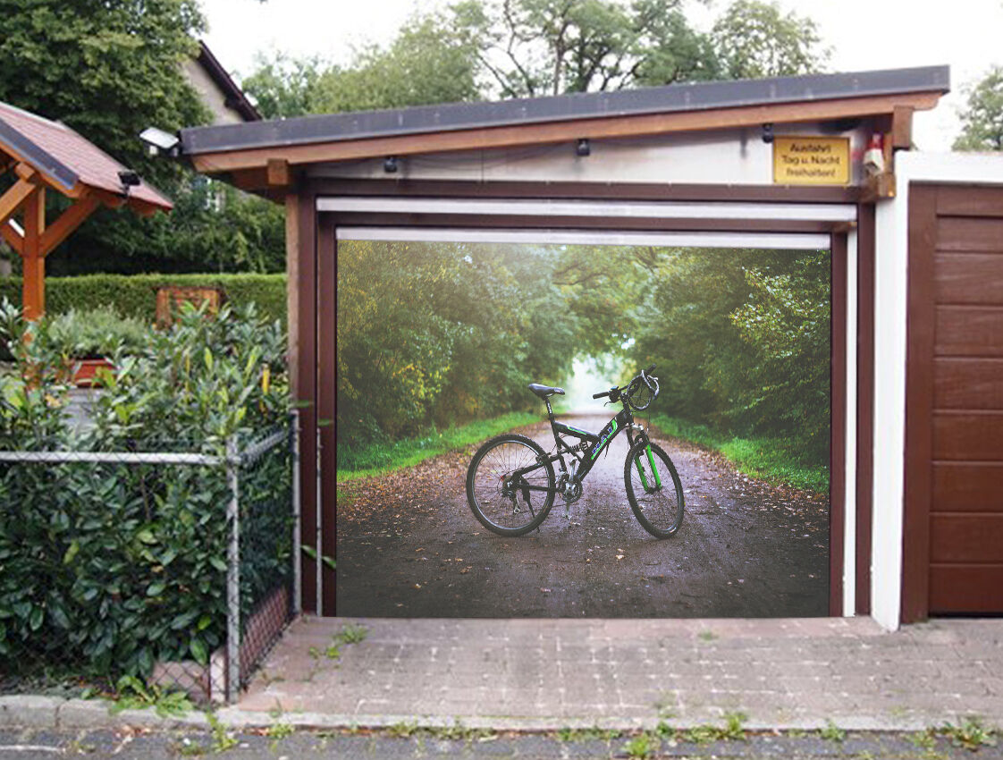 3D Bicycle Leaves Garage Door Murals Wall Print Decal Wall Deco AJ WALLPAPER IE