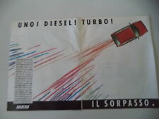 advertising Pubblicità 1986 FIAT UNO TURBO DIESEL