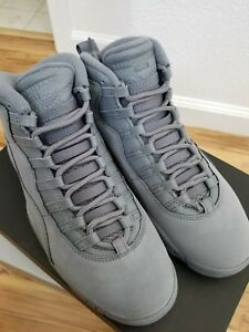 the latest 22ad8 426b3 Details about Air Jordan 10 X Retro Cool Grey Suede NRG 310805-022 AUTHENTIC