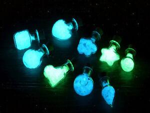 Sabbia in vetro che si illumina al buio per gioielli collane harry Potter