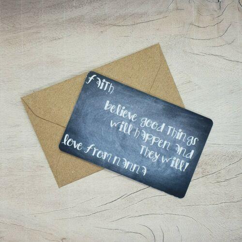 Keepsake Sentiment Personalised Wallet Card Gift Friend Family
