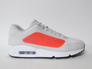 Nike Air Max 90 NS GPX Big Logo Grey Bright Crimson White Black 11.5 ... aadefc9ec979