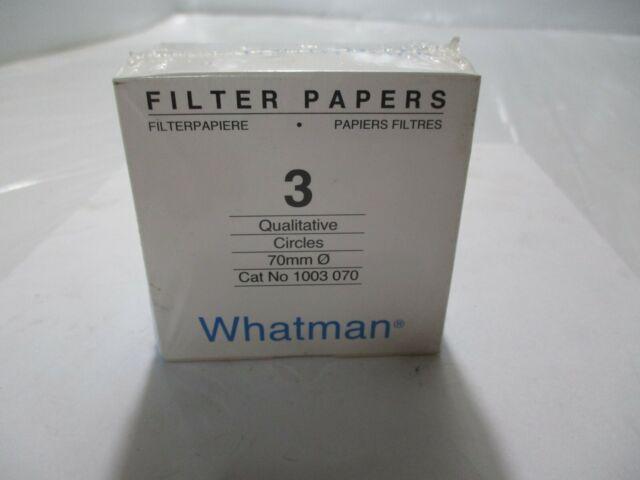 70mm Grade 3 Qualitative Filter Paper Circle