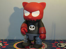 16″ Qee Devil Toyer Cat Plastic Figure VINYL ART TOY SKULL  RAYMOND CHOY