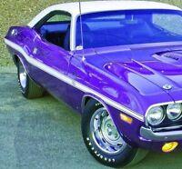 70 Dodge Challenger R/t Side Stripes Kit Decals Stripe 1970 matt Black