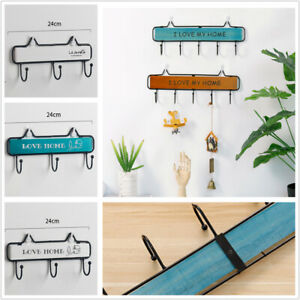 Wall-Mount-Key-Rack-Hanger-Holder-3-Hooks-Chain-Storage-Keys-Organizer-New