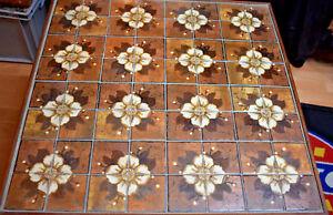 Tisch Mit Mosaikfliesen.Details Zu 60er 70s Mosaik Fliesen Tisch Tiki Blumen Lounge Metallgestell Beistelltisch