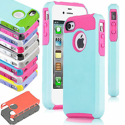 Hybrid Shockproof Hard Rugged Heavy Duty Cover Case For iPhone 5 5S SE 6 6S Plus