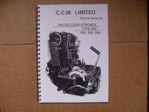 Details about CCM/ROTAX 604 WORKSHOP MANUAL