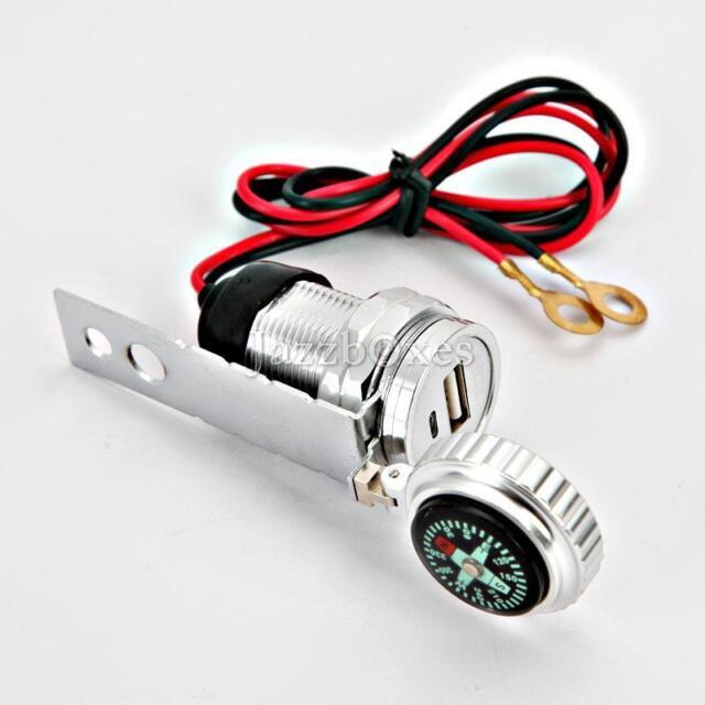 Aluminum USB Charger for Suzuki Intruder Volusia VS VL 800 1400 1500 Marauder