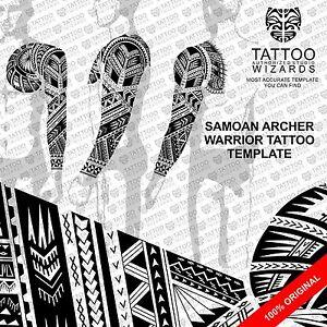 maori samoan polynesian archer warrior tattoo stencil template ebay. Black Bedroom Furniture Sets. Home Design Ideas