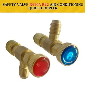 Details about 2Pc Safety Valve R410A R22 Air Conditioning Quick Coupler  Connector Adapter CY