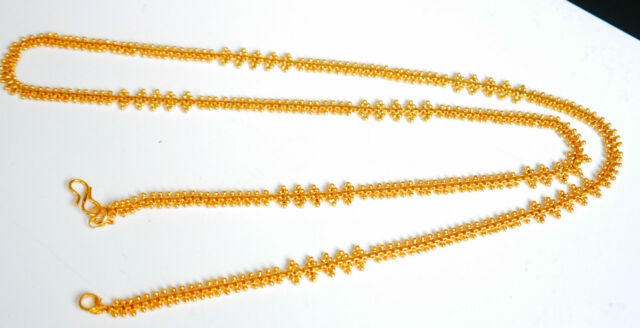 Real looking 22 ct gold plated set - Indian Arabic Ethnic Style CHAIN HC18 30 IN