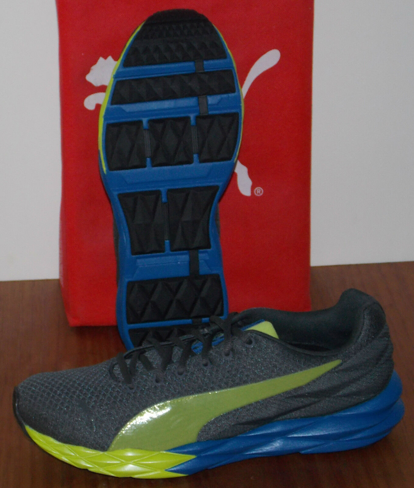 Uomo PUMA GILITY in colors DARK SHADOW / LIME / / / BLUE SIZE 8.5 2af8bf