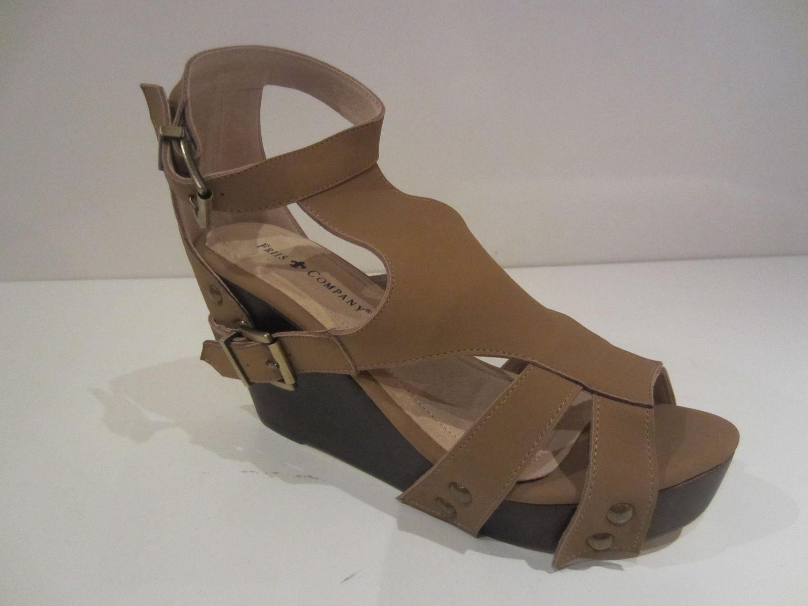 Friis & Company Tessie  señora cuero fashion-sandalias marrón nuevo & OVP